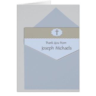 Sellado con una tarjeta religiosa de la foto de la