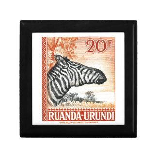Sello 1942 de la cebra de Ruanda Urundi Caja De Regalo