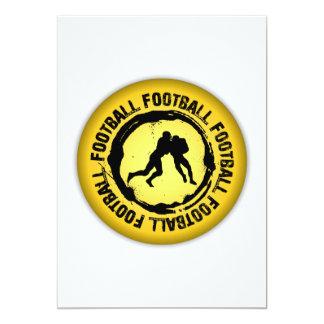 Sello agradable del fútbol invitación 12,7 x 17,8 cm