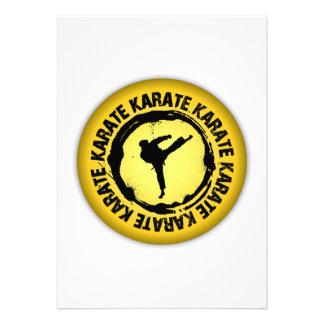 Sello agradable del karate comunicado personalizado