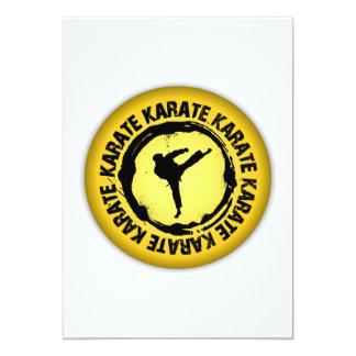 Sello agradable del karate invitación 12,7 x 17,8 cm