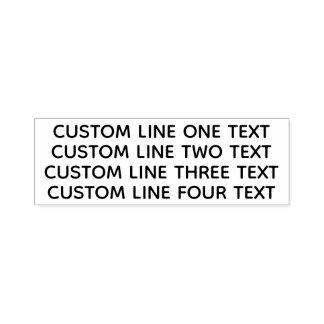 Sello Automático Añada su texto preferido - cuatro líneas todo