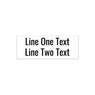 Sello Automático Añada su texto preferido - dos líneas fuente de