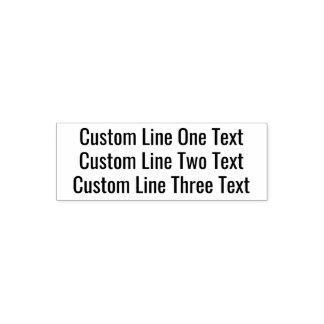 Sello Automático Añada su texto preferido - tres líneas de sans