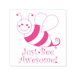Sello Automático Apenas la abeja impresionante manosea la abeja