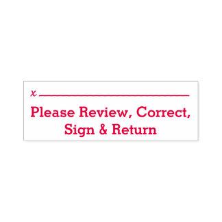 """Sello Automático Básico """"revise por favor, correcto, muestra y"""