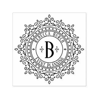 Sello Automático Byline decorativo adornado del negocio del marco