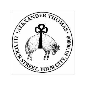 Sello Automático Emblema congregado heráldico del escudo de las