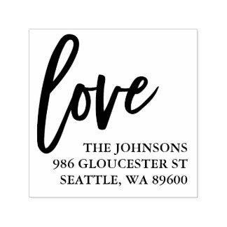 Sello Automático Escritura puesta letras mano el | del amor
