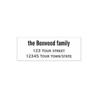 Sello Automático Familia simple del remite
