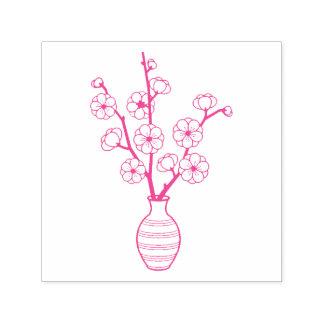Sello Automático Florero de la flor de cerezo de Sakura