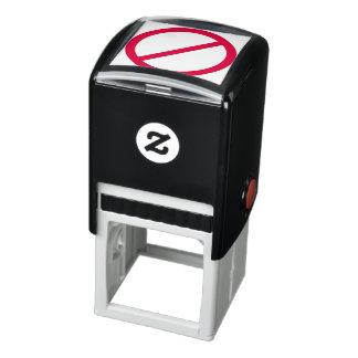 Sello Automático HACE NO el círculo rojo ANTI con símbolo de la