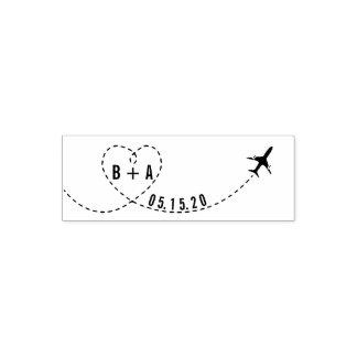 Sello Automático Iniciales del aeroplano del vuelo que casan la