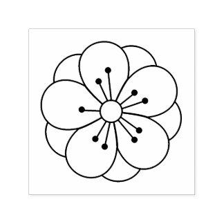 Sello Automático La flor de la flor de cerezo de Sakura me colorea