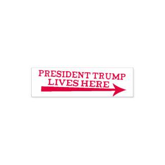 Sello Automático Las vidas de presidente Donald Trump aquí pescan