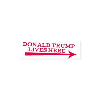 Sello Automático Las vidas de presidente Donald Trump aquí sellan