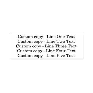 Sello Automático Líneas de encargo tradicionales del negocio 5 de