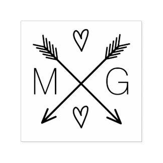 Sello Automático Logotipo doble del boda del monograma de los