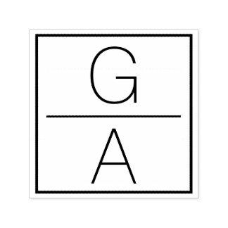 Sello Automático Logotipo doble moderno del boda del monograma