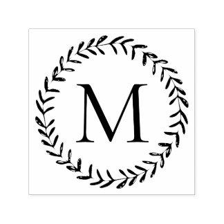 Sello Automático Monograma dibujado mano rústica del personalizado