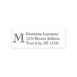 Sello Automático Nombre tradicional y remite - monograma