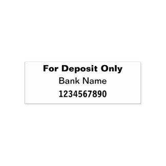 Sello Automático Para el banco del depósito solamente/compruebe al