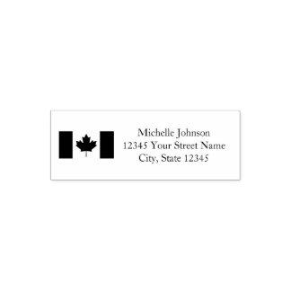 Sello Automático Remite de encargo de la bandera canadiense