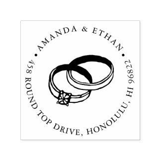 Sello Automático Remite de las alianzas de boda el |