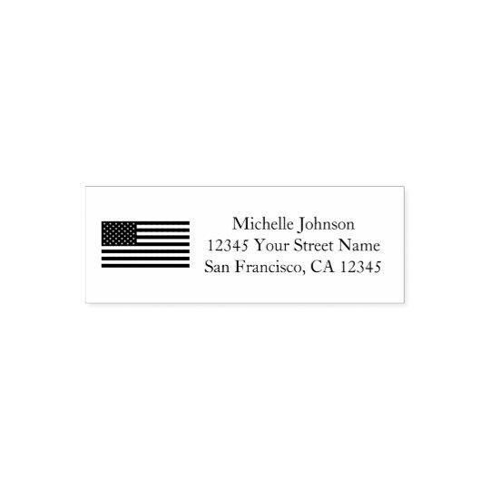 Sello Automático Remite patriótico de personalizado de la bandera