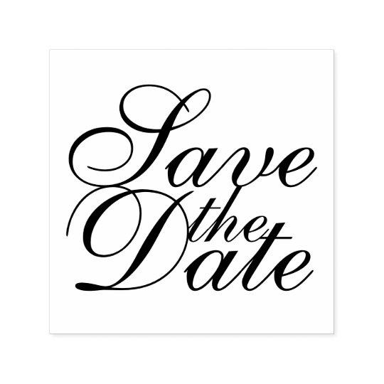 Sello Automático Reserva elegante del boda la fecha