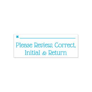 """Sello Automático """"Revise por favor, correcto, inicial y de vuelta """""""
