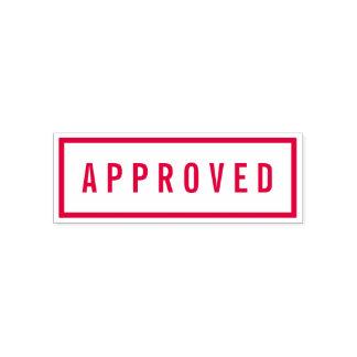 Sello Automático Rojo intrépido de la frontera simple aprobado