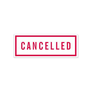 Sello Automático Rojo intrépido de la frontera simple cancelado