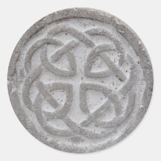 Sello céltico eterno del sobre de la piedra del
