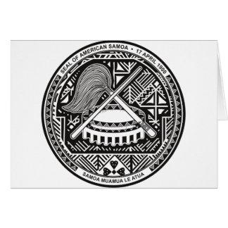 sello de American Samoa Tarjeta De Felicitación