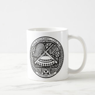 sello de American Samoa Taza Básica Blanca