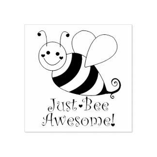Sello De Caucho Apenas la abeja impresionante manosea la abeja