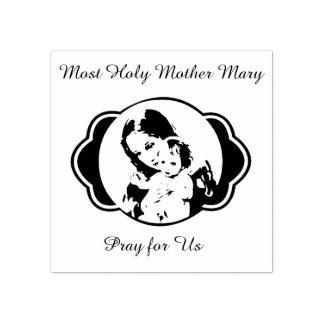 Sello De Caucho Bebé bendecido Jesús de Maria de la madre