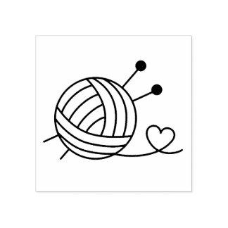 Sello De Caucho Bola del arte del hilo para obras de punto