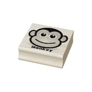 Sello De Caucho Cara linda del mono del dibujo animado