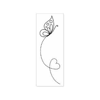 Sello De Caucho Corazón de la mariposa - coloréeme
