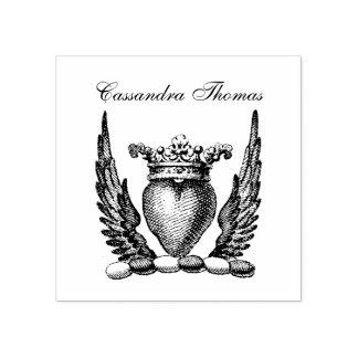 Sello De Caucho Corazón heráldico con el escudo del escudo de