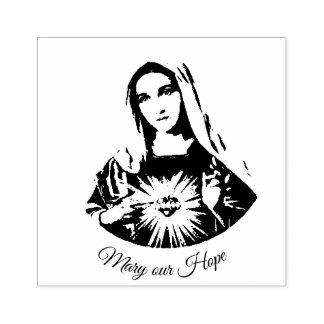 Sello De Caucho Corazón inmaculado de Maria nuestra esperanza