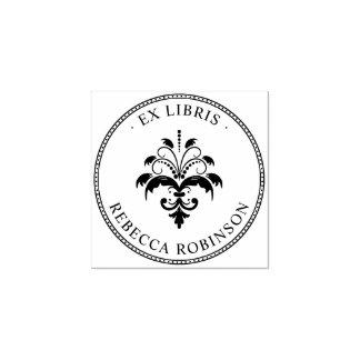 Sello De Caucho Damasco y tipografía el | ex Libris de encargo del