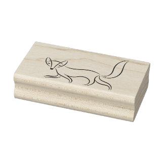 Sello De Caucho Dibujo lineal simple del Fox