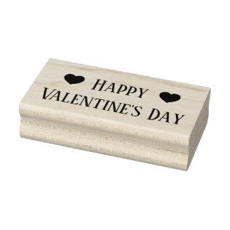 Sello De Caucho El día de San Valentín feliz con los corazones