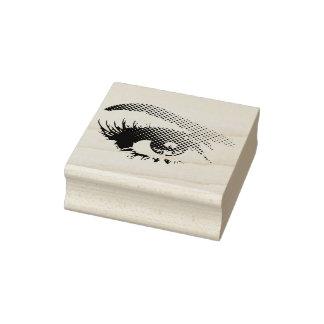 Sello De Caucho El ojo bonito de la mujer en los puntos de