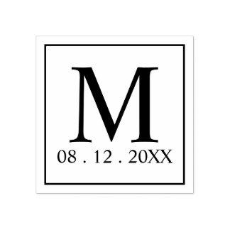Sello De Caucho Favor moderno del boda del monograma