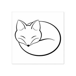 Sello De Caucho Fox el dormir