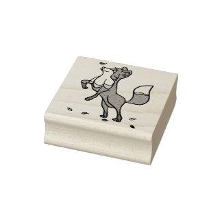 Sello De Caucho Fox juguetón